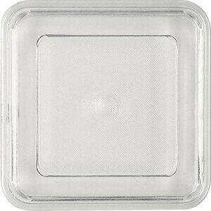 Deckel transparent flach 109x109 Kunststoff-Deckel Bauscher