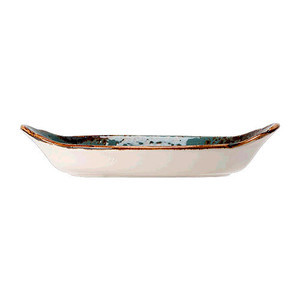 Form oval m. Griff 20x11cm mit Griffen 1130 Craft Blue Steelite