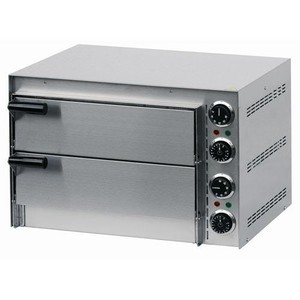 Mini Pizzaofen 2 Etagen 230 V / 3 kW Cookmax orange