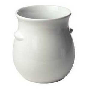 Dressingtopf 2l ohne Aufschrift Keramik weiss ohne Deckel