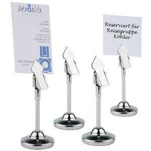 Tischkartenhalter 4er Set H. 10 cm Edelstahl hochglanzpoliert Assheuer & Pott