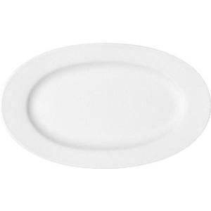 Platte oval 38cm Fahne Maitre weiss Bauscher