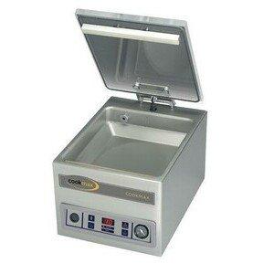 Vakuum-Verpackungsmaschine 8 m3/h 34 x 45 x 37 230 V / 0,35 kW / 50/60 Hz Cookmax black