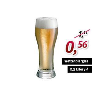 Weizenbierglas 39cl 0,3l /-/ Brasserie