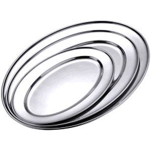 Bratenplatte oval 18/10 hochglänzend 35 x 22 cm Contacto