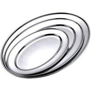 Bratenplatte oval 18/10 hochglänzend 40 x 26 cm Contacto