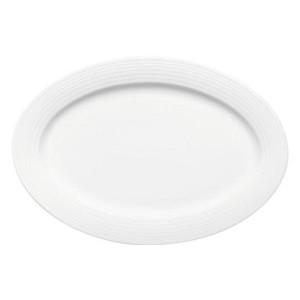 Platte oval 32cm Fahne 8061/32 Dialog weiss Bauscher