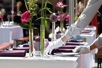 Tischdekoration für Gastronomie