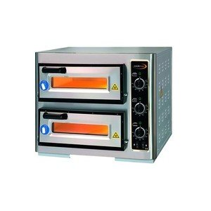 Pizzaofen 2 Backk., 2 Pizzen Ø 40 cm 63,0 x 51,5 x 50,0 400 V / 5,25 kW Cookmax orange