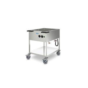 Speisenausgabewagen 2 x GN 1/1 Cookmax silver