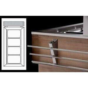 Tablettrutsche Edelstahl klappbar kopfseitig Geräte mit Umluft Cookmax silver
