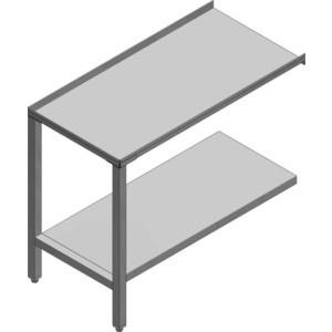 Ablauftisch mit Ablagebord, 110cm 110 x 69,5 x 86 Cookmax black