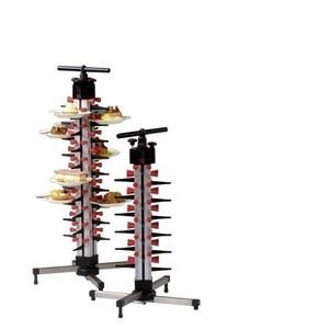 Tellerstapelsystem PLATE MATE Tischmodel für 24 Teller Cookmax black