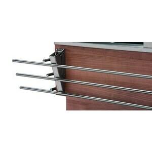 Tablettrutsche Edelstahl klappbar fürs Buffet längsseitig für 3 GN Cookmax silver