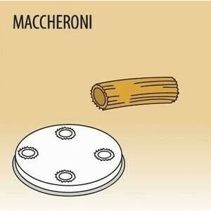 Matrize Maccheroni für Nudelmaschine 516002 und 516003 Cookmax black