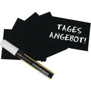 Schreibtafel, schwarz DIN A7 20-er Set incl. Stift Contacto