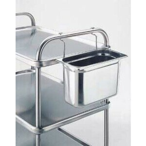 Besteck- / Abfallbehälter Set GN 1/3-150mm inkl. Edelstahlhalt.
