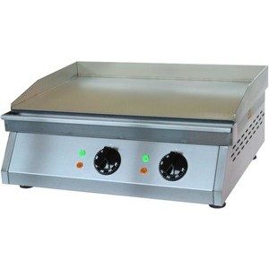 Elektro-Grillplatte glatt 600 x 500 x 200 mm 6 kW 400 V Cookmax orange