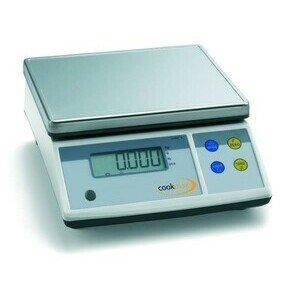 Elektronische Portionswaage bis 30 kg 26 x 31 x 12,5 230 V Cookmax black