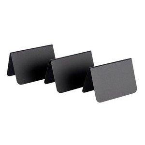 Tischaufsteller 10er Set 10,5 x 6 x 6,5 cm PVC schwarz Assheuer & Pott