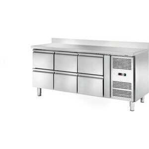 Kühltisch 417 l, mit 10 cm Aufkantung 6 1795 x 700 x 860/100 230 V / 0,30 kW Cookmax orange