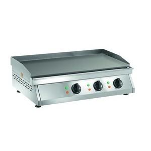 Elektro-Grillplatte glatt, 3 Heizzonen 840 x 500 x 200 400V / 9,0kW Cookmax orange