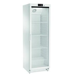 Kühlschrank, weiß, Glastür 360 l 600 x 600 x 1855 230 V / 0,19 kW Cookmax orange