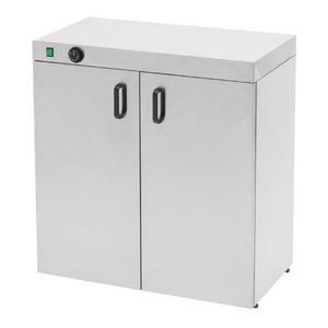 Tellerwärmeschrank für 120 Teller D. 350 80 x 46 x 87 cm 230 V / 1,5 kW Cookmax black