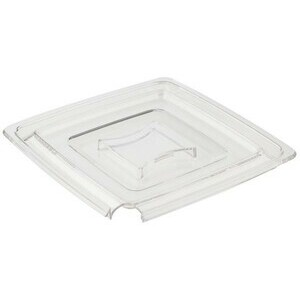 Deckel Pure m. Löffelaussparung 19x19 cm Kunststoff klar Assheuer & Pott
