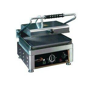 Elektro-Kontaktgrill, oben + unten geril 28,0 x 28,0 x 30,0 230 V / 1,75 kW Cookmax black