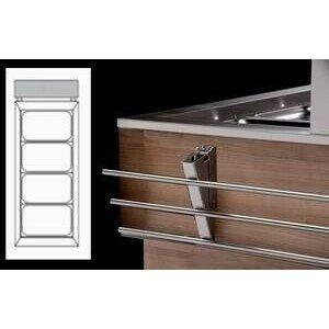 Tablettrutsche Edelstahl klappbar kopfseitig Geräte ohne Umluft Cookmax silver