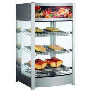 Warmhaltevitrine, Umluft, 97 l 46,0 x 44,8 x 78,5 230 V / 1,10 kW Cookmax orange