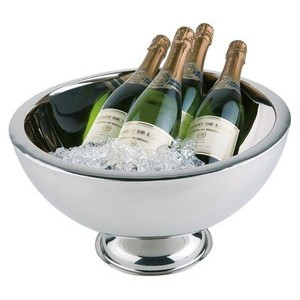 Champagnerkühler doppelwandig Edelstahl Ø 44cm Assheuer & Pott