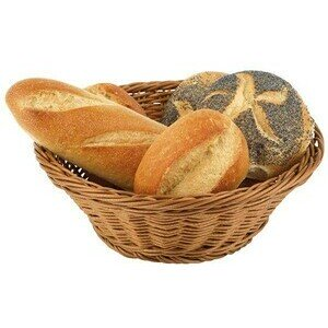 19 cm Brot - Obstkorb braun Poly-Rattan rund abwaschbar Assheuer & Pott