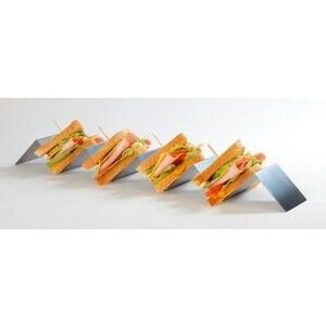 Snackpresenter mit 4 Mulden 56 x 8 x 5,5 cm Edelstahl Assheuer & Pott