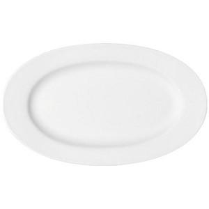 Platte oval 33cm Fahne Maitre weiss - MU - Bauscher