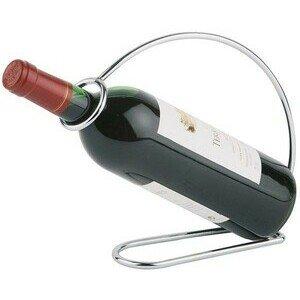 Weinflaschenhalter verchromt 22 x 6 cm, H: 20,5 cm Assheuer & Pott