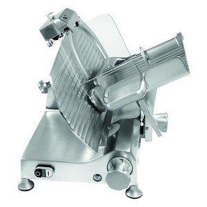 Aufschnittmaschine / Schrägschneider Messer Ø 33cm / 230 V / 0,26 kW Cookmax black