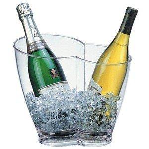 Wein- / Sektkühler klar 30,5 x 21,5 cm, H: 26 cm Assheuer & Pott