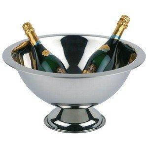 45cm / 23cm Champagner-Schale Edelstahl poliert/ Rand mattiert Assheuer & Pott