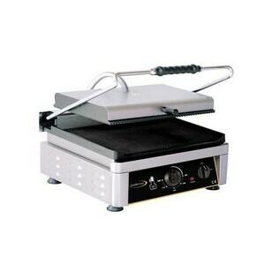 Elektro-Kontaktgrill oben + unten gerill Grillfläche 45x27cm 230V / 3 kW Cookmax black