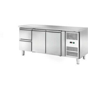 Kühltisch 417 l, ohne Aufkantung 2 Türen 1795 x 700 x 860 230 V / 0,30 kW Cookmax orange