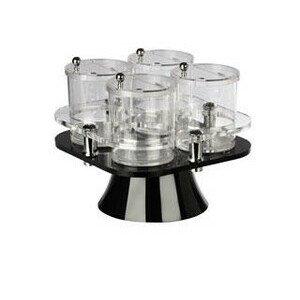 Buffetbar drehbar mit 4 Behältern 0,75l Acryl ohne Löffel Behältergrösse 11x12cm