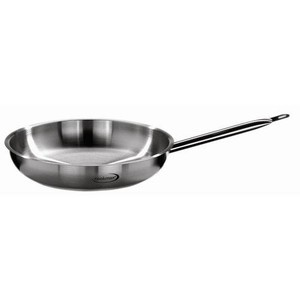 24cm Bratpfanne o. Deckel Edelstahl induktionsgeeignet Professional Cookmax