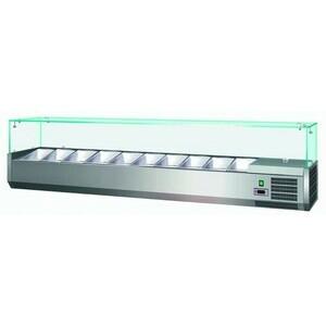 Kühl-Aufsatzvitrine für 9 GN 1/4 1800x335x435mm 230V / 0,15 kW Cookmax orange