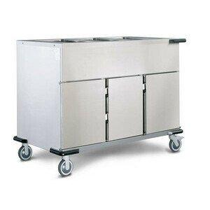 Speisenausgabewagen 3 x GN 1/1 Cookmax silver