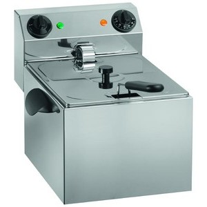 Elektro-Fritteuse, 8lt. 230V / 3,25kW Cookmax orange