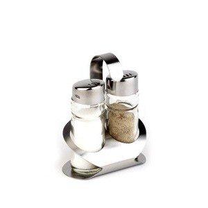 Menage 2tlg. PRO Pfeffer & Salz 18/10 Edelstahl matt 8,5x5,7cm Assheuer & Pott