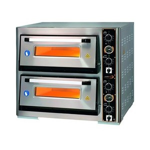Pizzaofen 2 Backk., 8 Pizzen Ø 34 cm 97,0 x 96,0 x 76,0 400 V / 10,0 kW Cookmax orange
