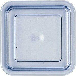 Deckel transparent-blau hoch 125x125 Kunststoff-Deckel Bauscher